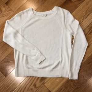 J crew cotton/linen knit sweater